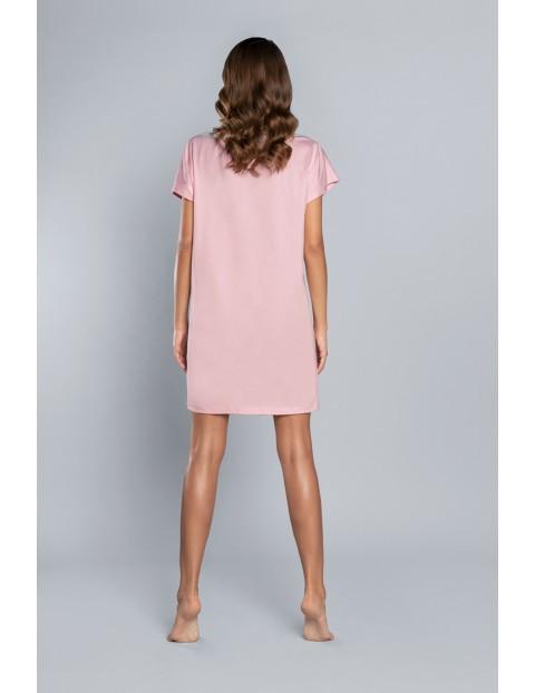 Koszula nocna damska w kolorze jasno różowym