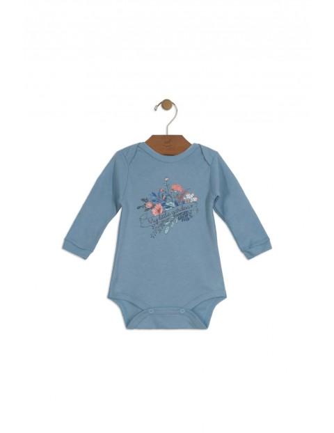 Body niemowlęce niebieskie w kwiaty