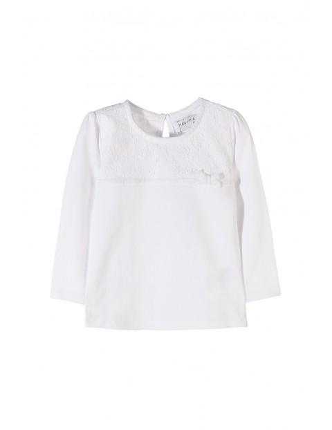 Bluzka dziewczęca biała 3H3501