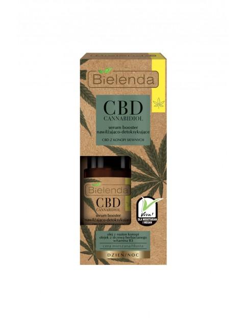 Serum booster nawilżająco-detoksykujący z CBD z konopi siewnych cera mieszana, tłusta Bielenda - 15 ml