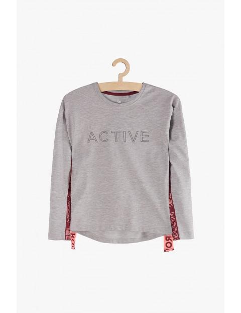 "Bluzka dziewczęca szara ""Active"""