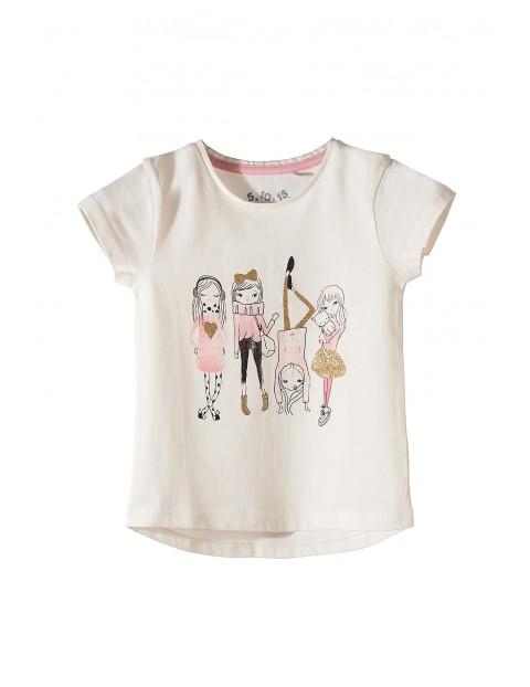T-shirt dziewczęcy 100% bawełna 3I3516