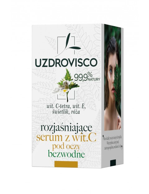 Uzdrovisco Świetlik Rozjasniające serum z wit.C pod oczy - bezwodne - 15ml