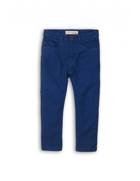 Spodnie chłopięce niebieskie- klasyczny fason
