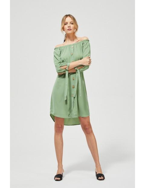 Sukienka damska typu hiszpanka- zielona