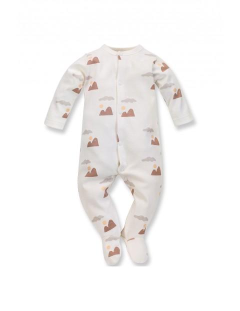 Bawełniany pajac niemowlęcy Dreamer ecru