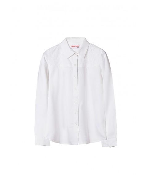 Koszula dziewczęca biała 4J3509