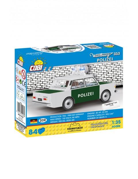 Kocki COBI 24558 Cars Wartburg 353 Polizei - 84 elementy wiek 5+