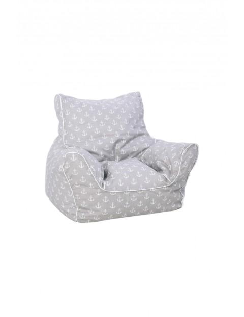 Fotelik dla dziecka z granulatem Kotwice