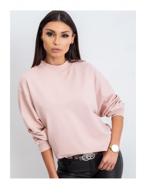 Bluza damska dresowa- różowa