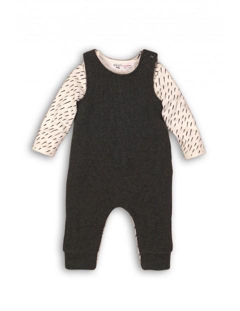 Komplet niemowlęcy body i spodnie na szelkach