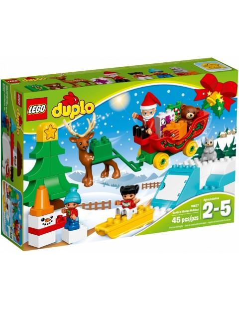 Klocki Lego Duplo Zimowe ferie Świętego Mikołaja