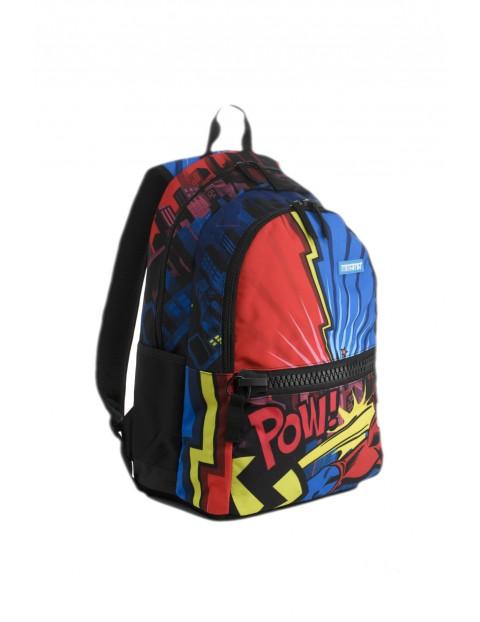 Plecak szkolny chłopięcy - granatowy