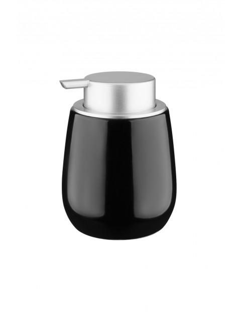 Dozownik Beverly wykonany z ceramiki oraz tworzywa sztucznego - czarny
