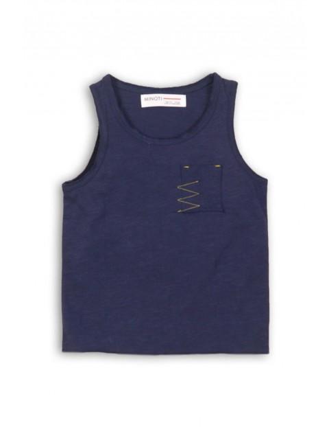 Koszulka chłopięca granatowa na ramiączka