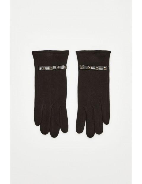 Rękawiczki z dżetami - czarne