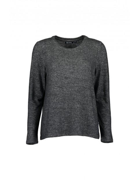 Damska bluza z dzianiny - szara