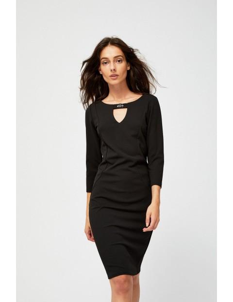 Elegancka czarna sukienka damska
