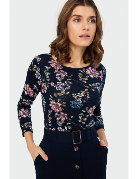 Sweter z kwiatowym nadrukiem
