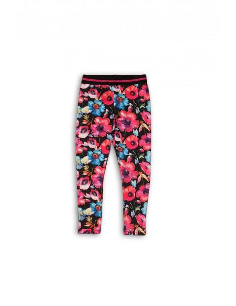 Leginsy dziewczęce w kolorowe kwiaty