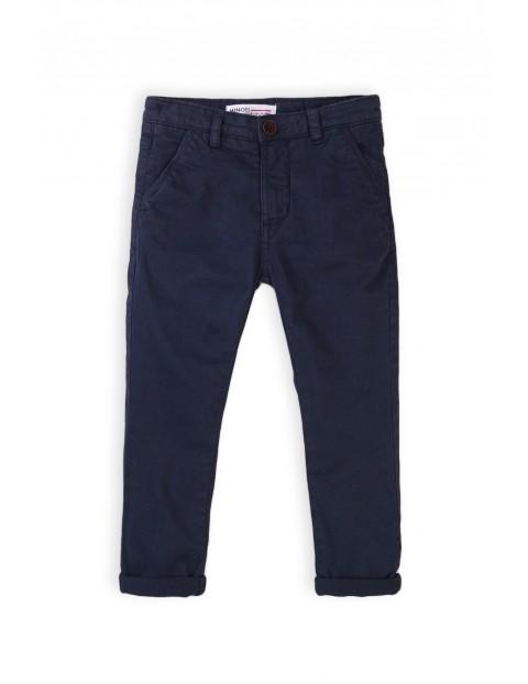Spodnie chłopięce chinosy granatowe