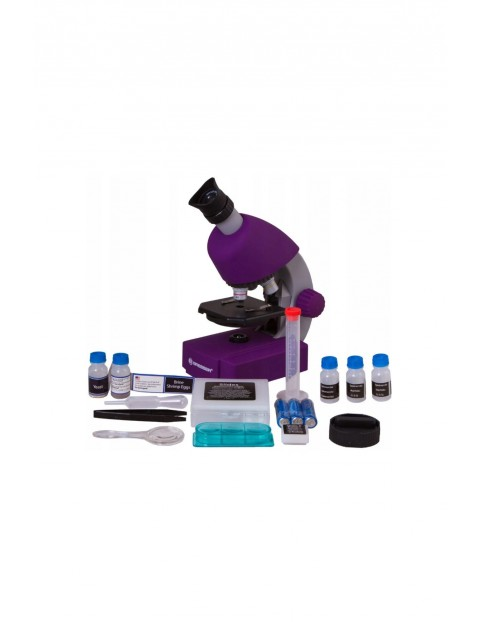 Mikroskop Bresser Junior 40x-640x fioletowy 6+