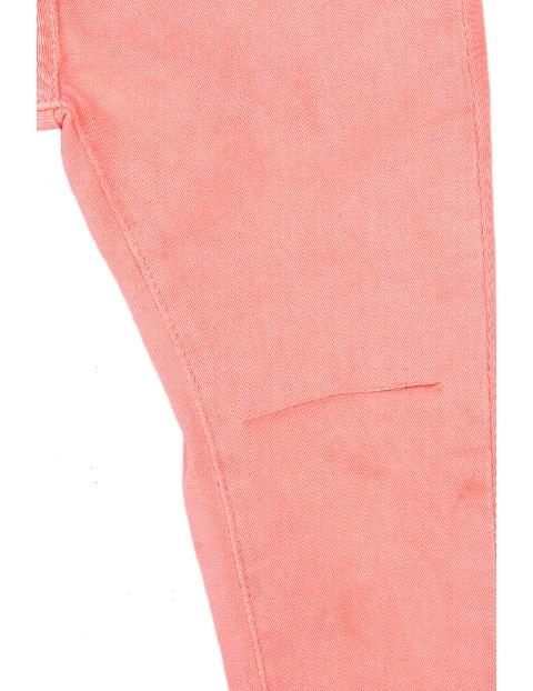 Spodnie dziewczęce w kolorze brzoskwiniowym