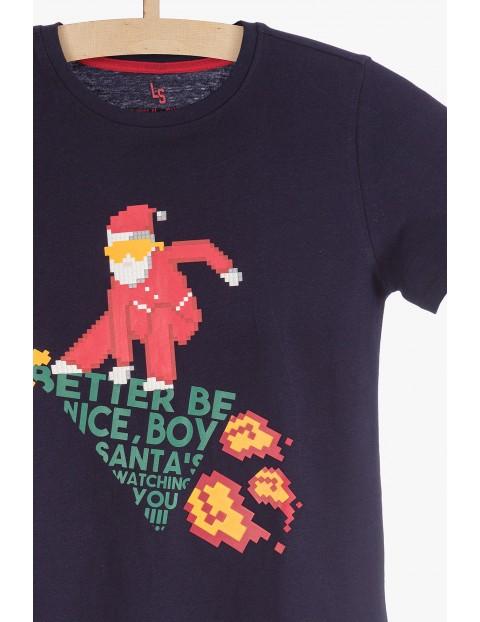 Bawełniany t-shirt z motywem świątecznym