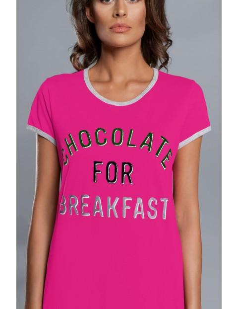 Koszula nocna damska Chocolate For Breakfast na krótki rękaw