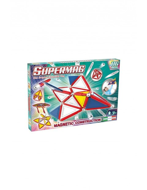 Supermag Toys - klocki magnetyczne Tags Primary 116el wiek 3+