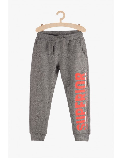 Spodnie chłopięce dresowe-szare