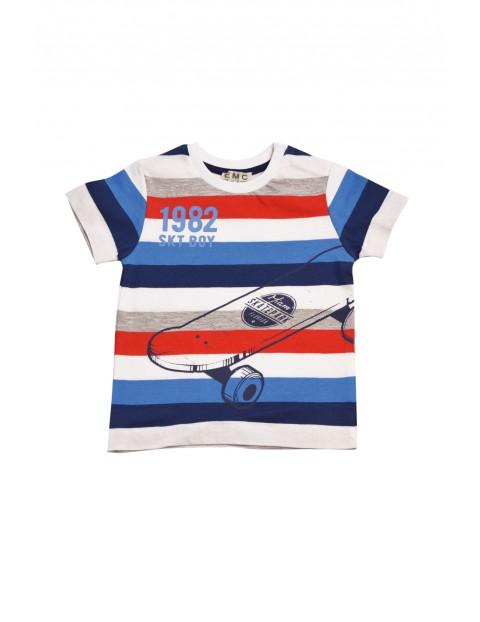 Koszulka niemowlęca dzianinowa w kolorowe paski