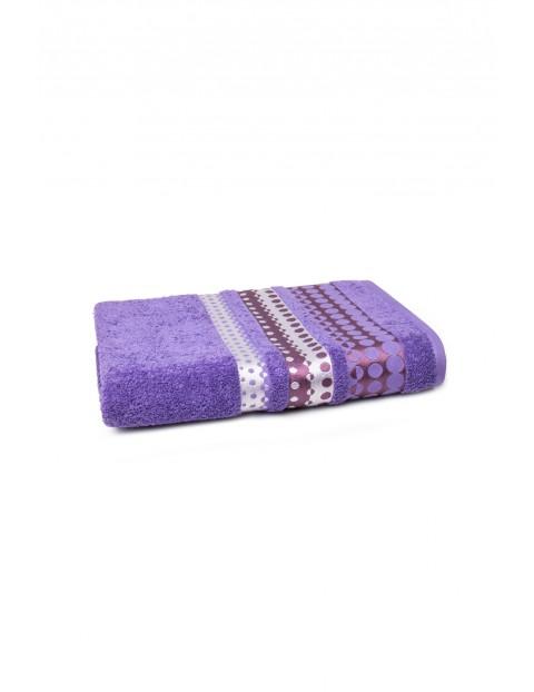 Bawełniany ręcznik w kolorze fioletowym 70x140 cm