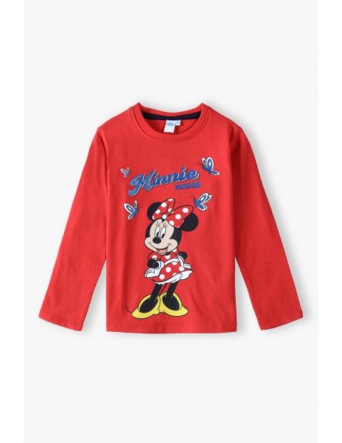 Bluzka bawełniana czerwoną Myszka Minnie