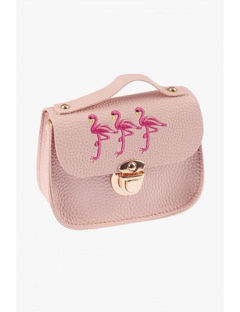 Torebka różowa z flamingami