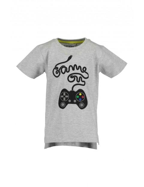 """T-Shirt chłopięcy szary z napisem """"Game on"""""""
