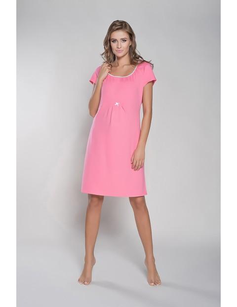 Koszula dla przyszłej mamy DAGNA krótki rękawek - różowa