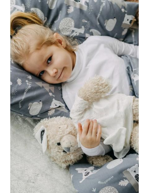 Komplet pościeli bawełnianej dla dzieci- Szary Las 100 x135cm