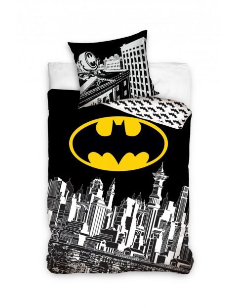 Komplet pościeli bawełnianej  Batman 160x200+70x80cm