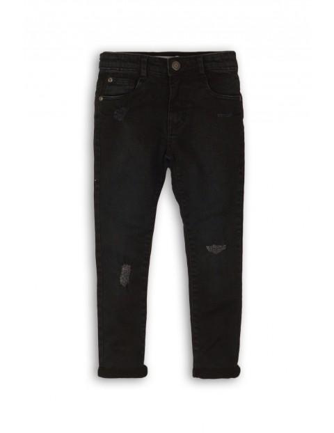 Spodnie chłopięce czarne z przetarciami