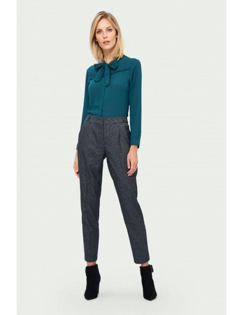 Klasyczne spodnie z zakładkami - szare