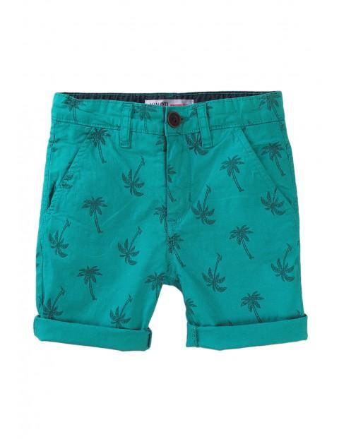 Szorty niemowlęce zielone w palmy