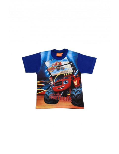 T-shirt Chłopięcy z samochodem Blaze