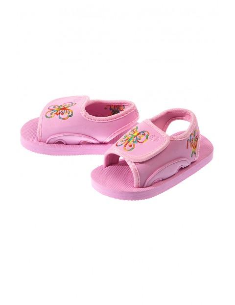 Sandały dziewczęce piankowe- różowe