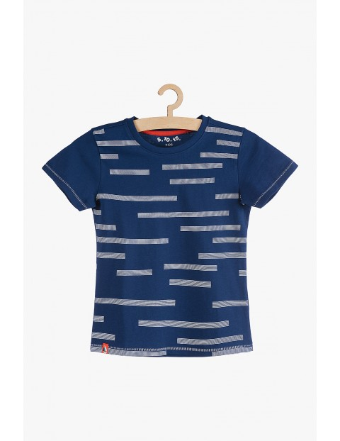 T-shirt granatowy dla chłopca