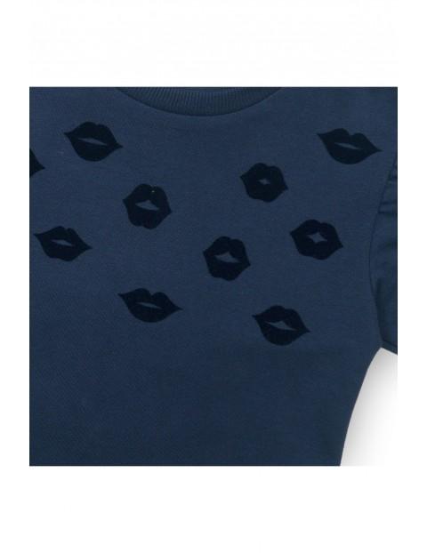 Bluza dresowa dla dziewczynki- granatowa