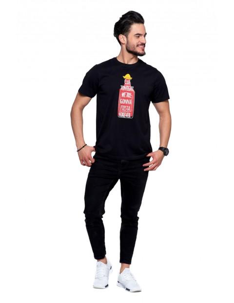 Męski bawełniany t-shirt z nadrukiem