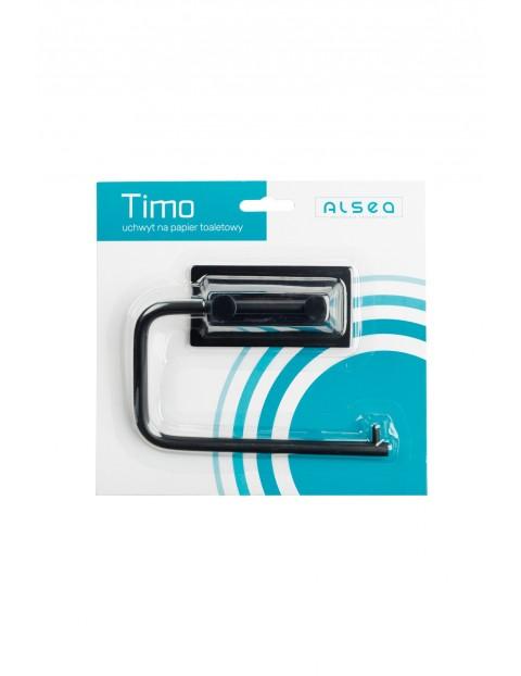 Metalowy uchwyt na papier toaletowy Timo - czarny