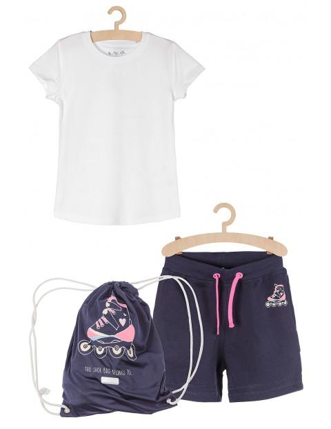 Komplet na zajęcia sportowe - tshirt spodenki worek
