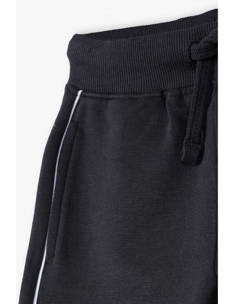 Spodnie dresowe dla córki i mamy- czarne z lampasem- Razem najlepiej